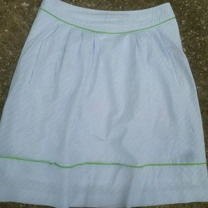 Lily Pulitzer Cotton Blue Striped Skirt 2